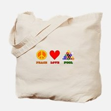 Peace Love Pool Tote Bag