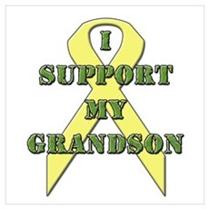 I Support My Grandson Poster