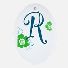 Letter R Ornament (Oval)