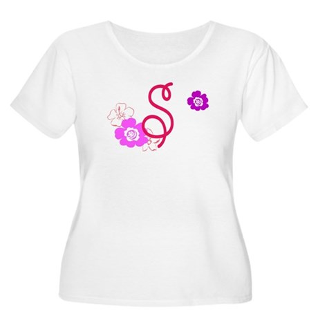S Women's Plus Size Scoop Neck T-Shirt