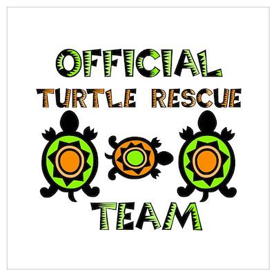 Turtle Rescue Poster