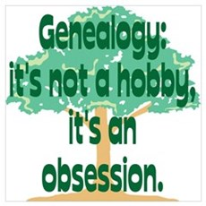 Genealogy Obsession Framed Print