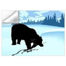 Black Bear in Snow Wall Decal