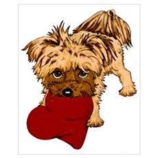 Yorkie Heart Poster