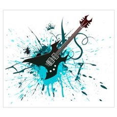 Graffiti Guitar Framed Print