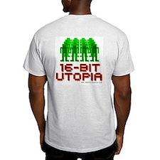 Ash Grey T-Shirt 16-Bit Utopia