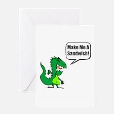Dinosaur Make Sandwich Greeting Card
