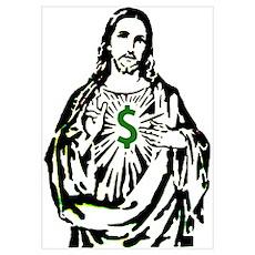 Money Christ Poster