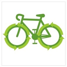 Go Green Bike Earth Poster