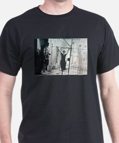 Akhmatova in front of gate Black T-Shirt