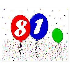 81st Birthday Poster