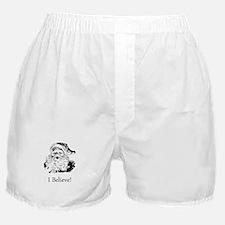 Santa I Believe Boxer Shorts
