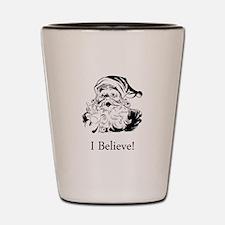 Santa I Believe Shot Glass