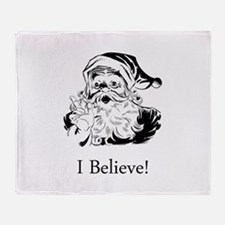 Santa I Believe Throw Blanket
