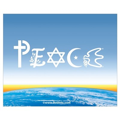 Peace On Earth at Sunrise Framed Print