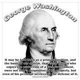 George washington quotes Wrapped Canvas Art
