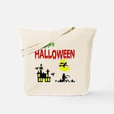 Halloween Haunted House Tote Bag