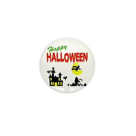 Halloween Haunted House Mini Button (10 pack)