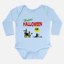Halloween Haunted House Long Sleeve Infant Bodysui