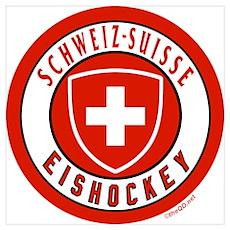 Team Switzerland Ice Hockey Poster