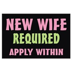 New Wife required Poster