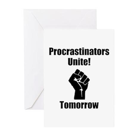 Procrastinators Unite Greeting Cards (Pk of 10)