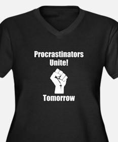 Procrastinators Unite Women's Plus Size V-Neck Dar