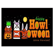 Halloween Dogs, Howl oween! Poster
