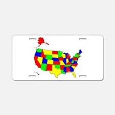 MAP OF AMERICA Aluminum License Plate