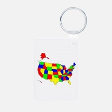 MAP OF AMERICA Keychains