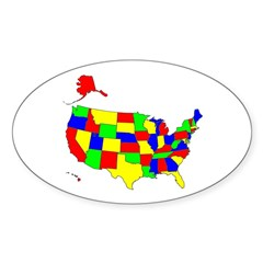 MAP OF AMERICA Decal