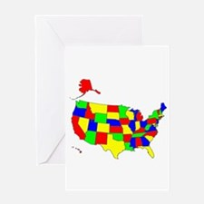 MAP OF AMERICA Greeting Card