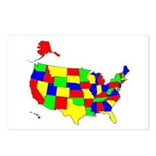 MAP OF AMERICA Postcards (Package of 8)
