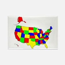 MAP OF AMERICA Rectangle Magnet