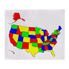 MAP OF AMERICA Throw Blanket