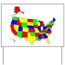 MAP OF AMERICA Yard Sign