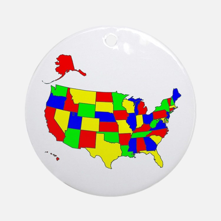MAP OF AMERICA Ornament (Round)
