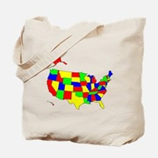 MAP OF AMERICA Tote Bag