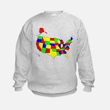MAP OF AMERICA Sweatshirt