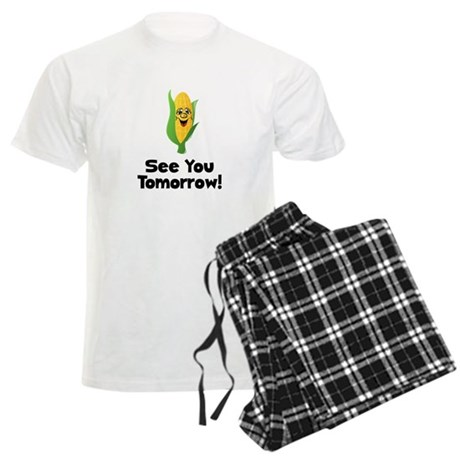 See You Tomorrow Corn Men's Light Pajamas