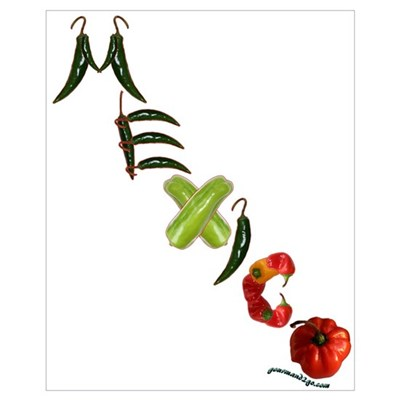 Mexico Chilis Canvas Art