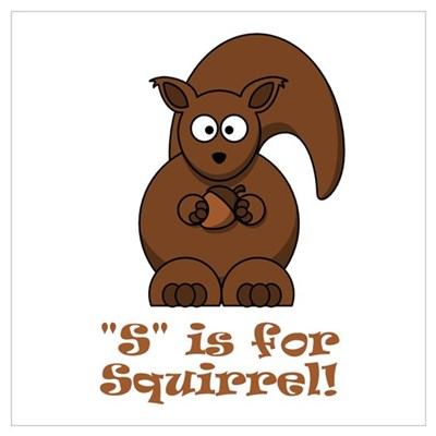S is for Squirrel! Poster