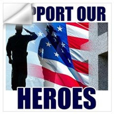 Support Our Heros Wall Decal