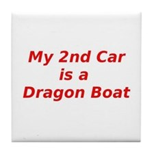 Cute Racing boats Tile Coaster