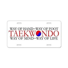 Tae Kwon Do Philosophy Aluminum License Plate