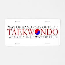 Tae Kwon Do Philosophy Aluminum License Plate