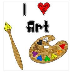 I Love Art Poster