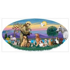StFrancis-Dogs-Cats-Horse Poster
