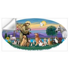 StFrancis-Dogs-Cats-Horse Wall Decal