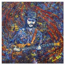 Painting of Les Claypool Framed Print